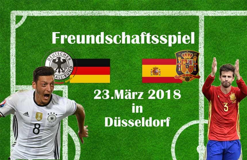 Länderspiel Deutschland gegen Spanien heute